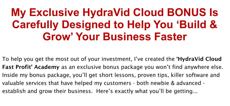 HydraVid Cloud Review Bonus