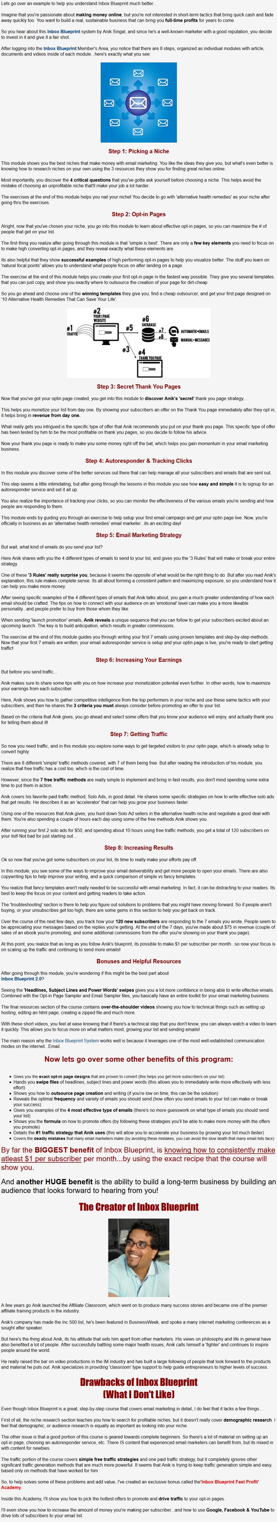 Uncut inbox blueprint v20 review unique fast profit bonus inbox blueprint review detailed malvernweather Gallery