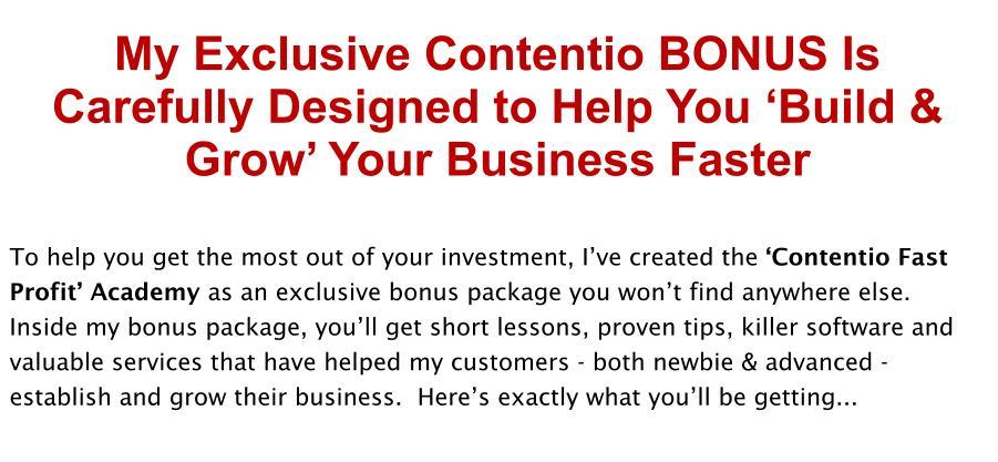 Contentio Review Bonus