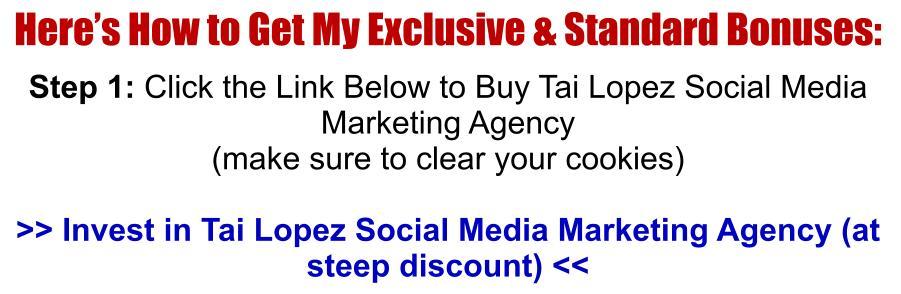Tai Lopez Social Media Marketing Agency Review BuyNow