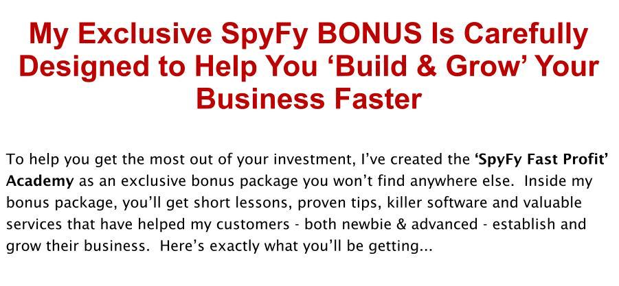 SpyFy Review Bonus
