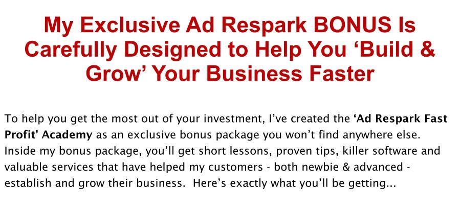 Ad Respark Review Bonus