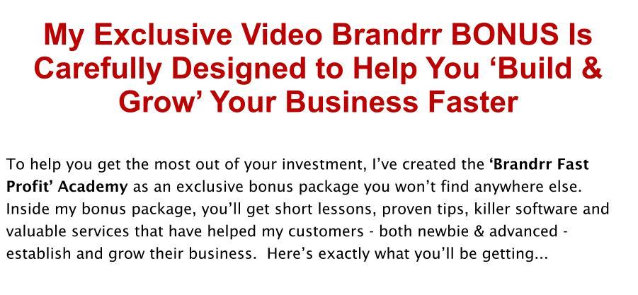 Brandrr Review Bonus