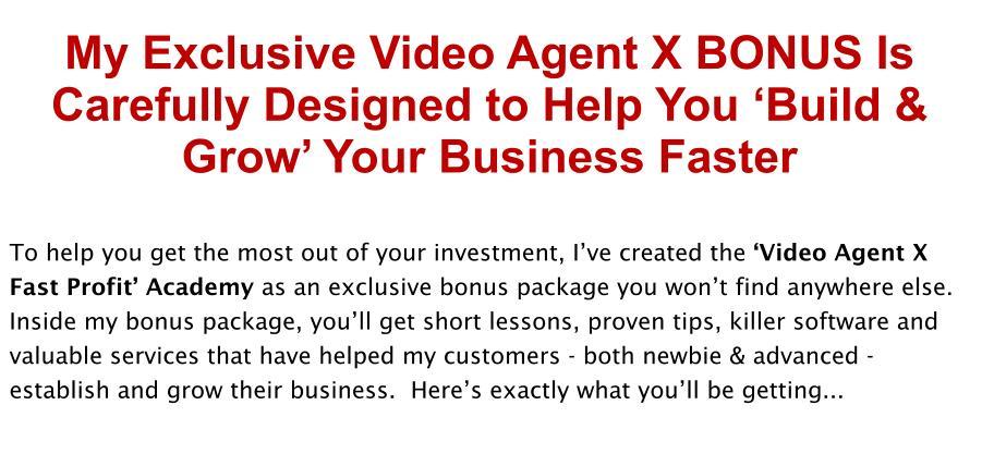 Video Agent X Review Bonus