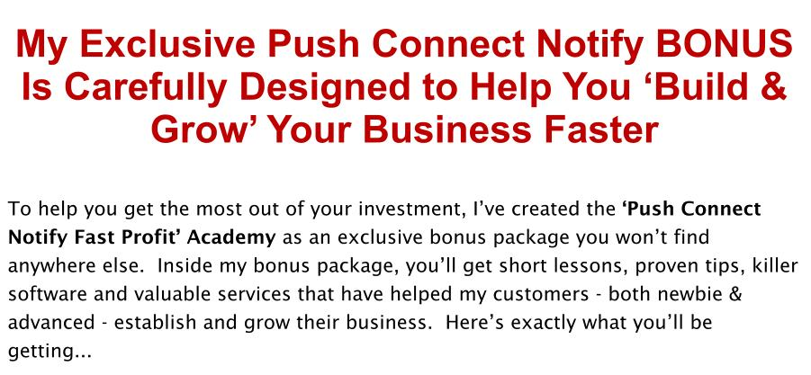 Push Connect Notify Review Bonus