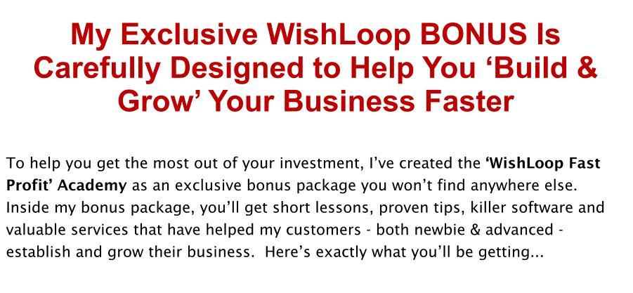 Wishloop Review Bonus