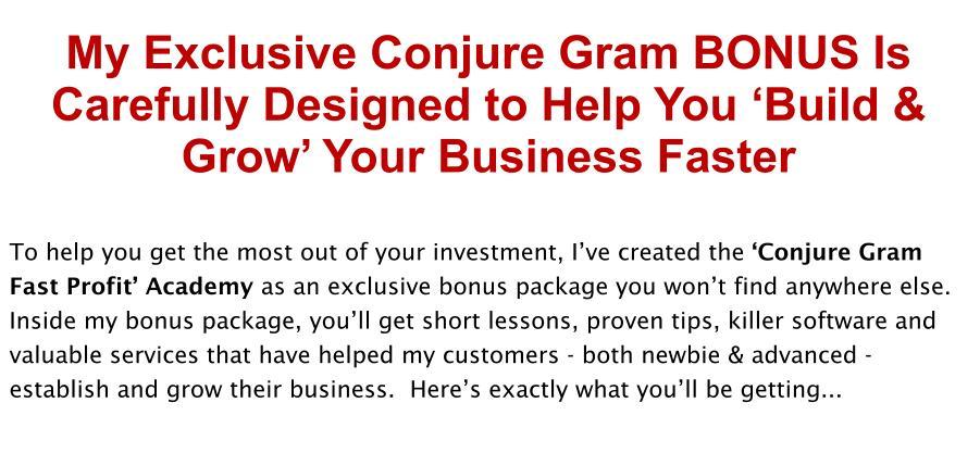 conjure-gram-review-bonus