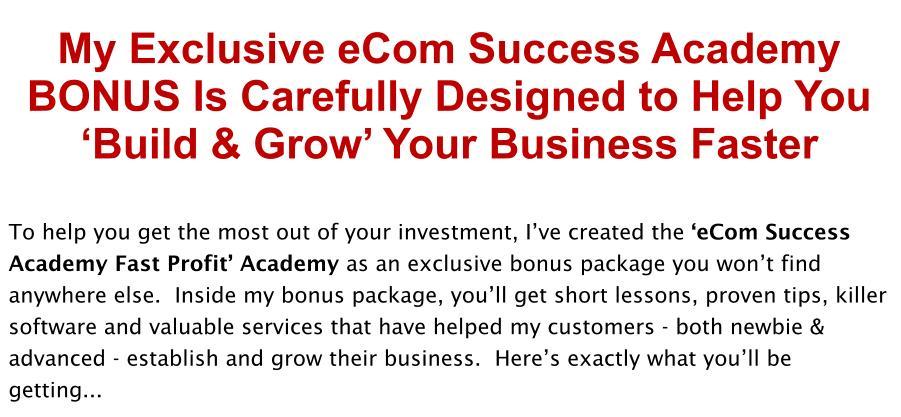 ECom-Success-Academy-Review-Bonus
